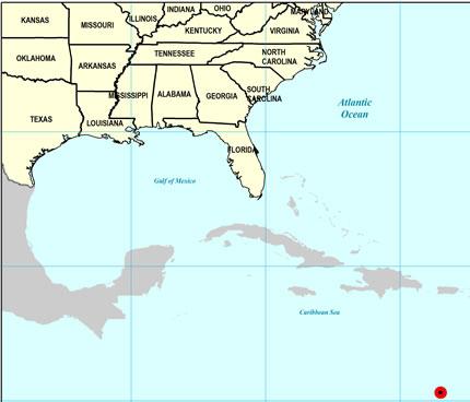 Late Pliocene Map